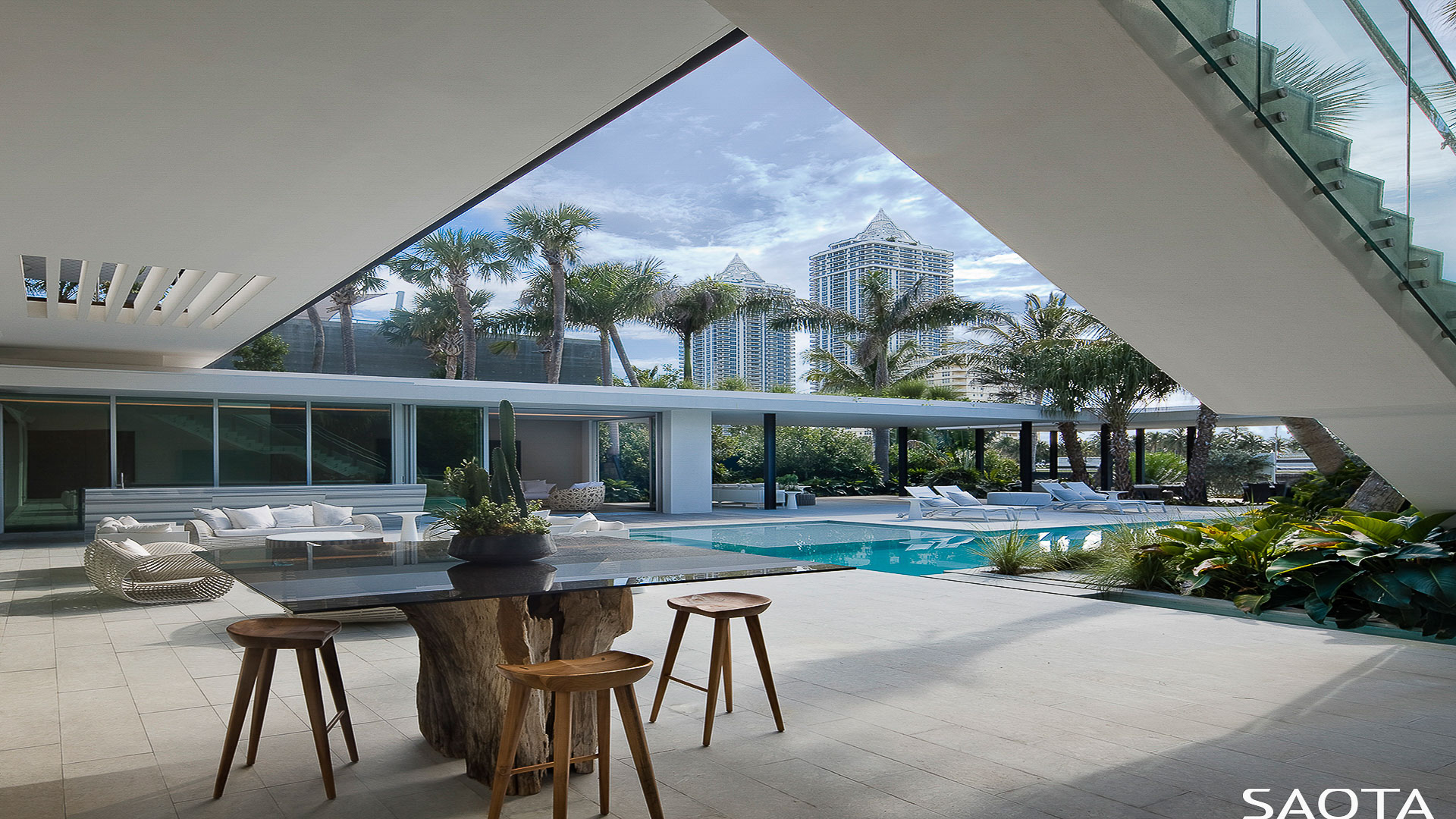 View from inside the Miami house