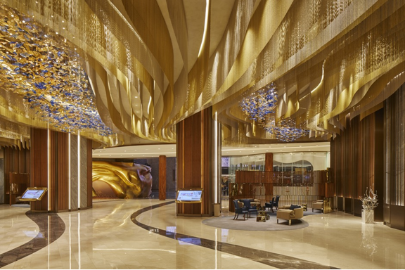 A lobby area in the hotel