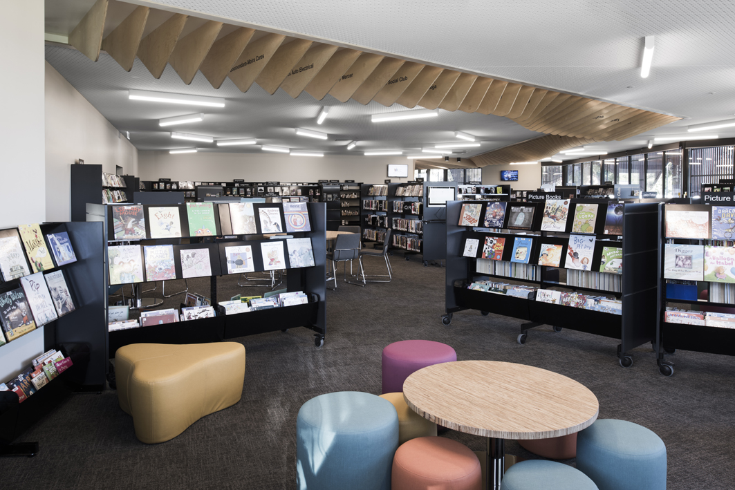 Seating area inside the Cobram library