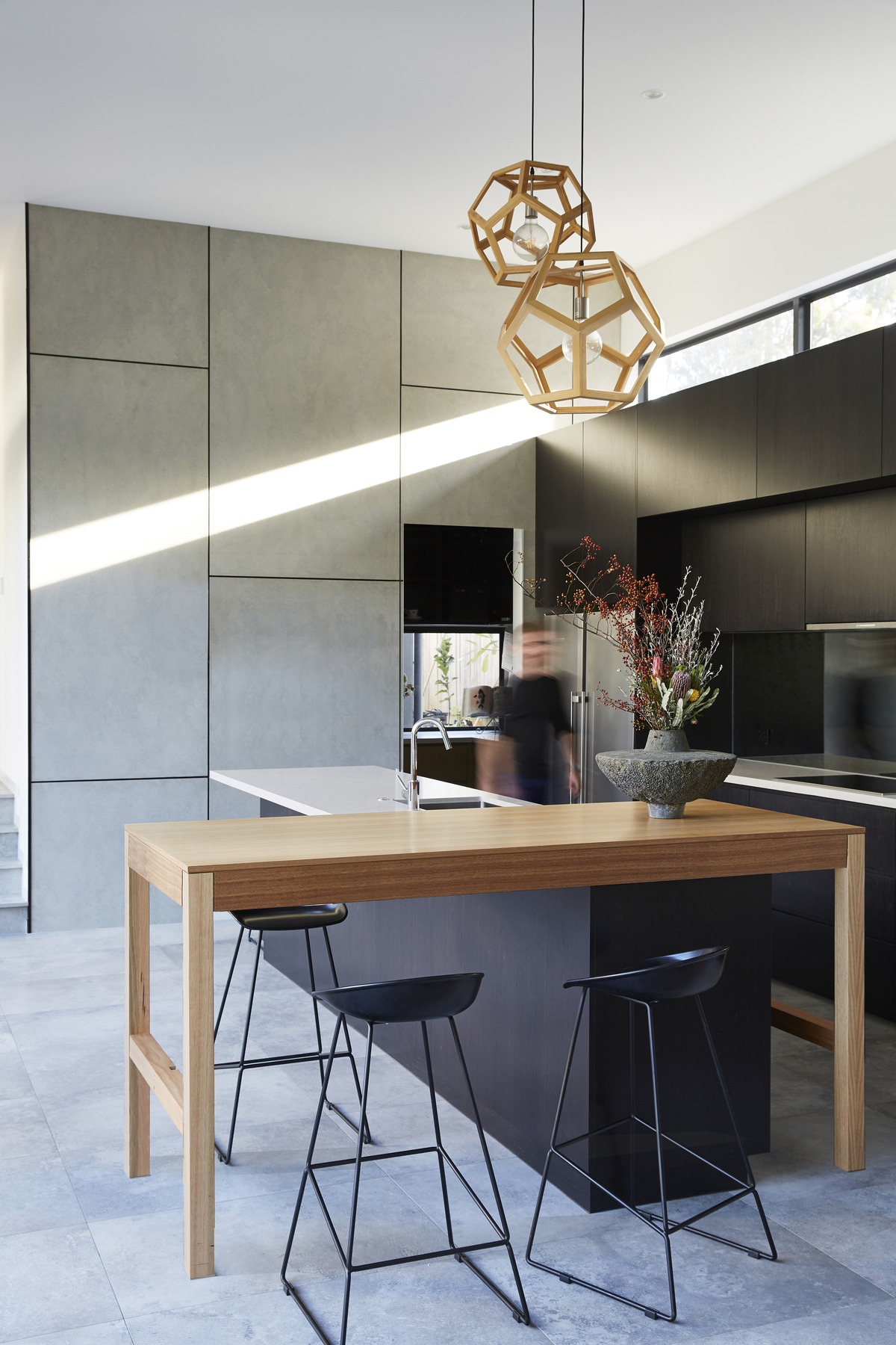 The kitchen in the Coorparoo House