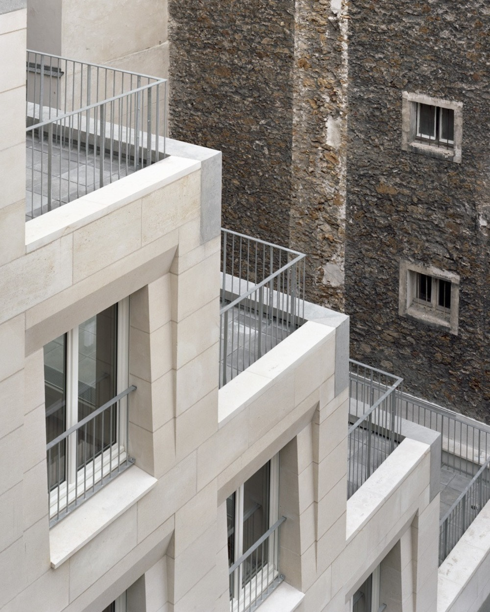 Alternate view of the social housing project in Paris
