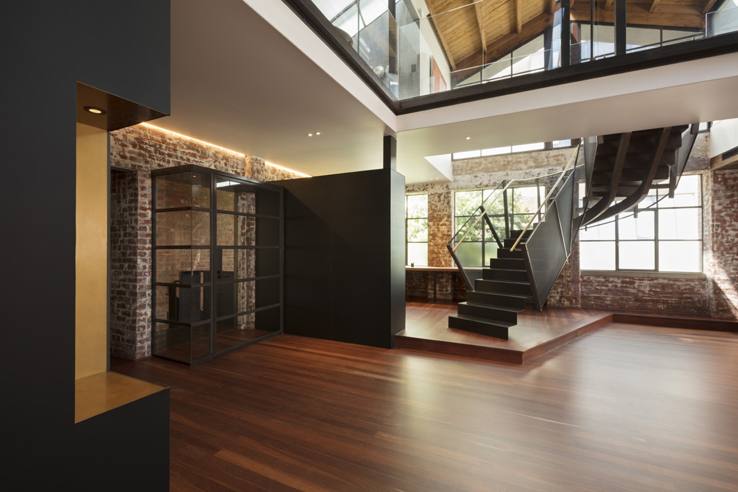 The staircase in the Melbourne apartment