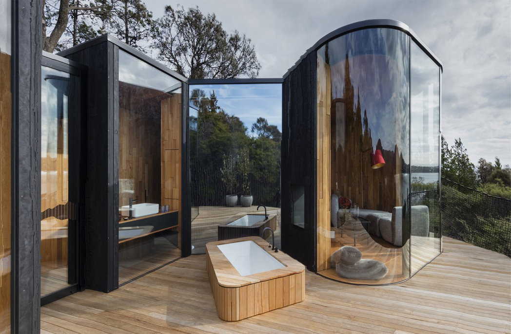 Pods built Tasmanian timber
