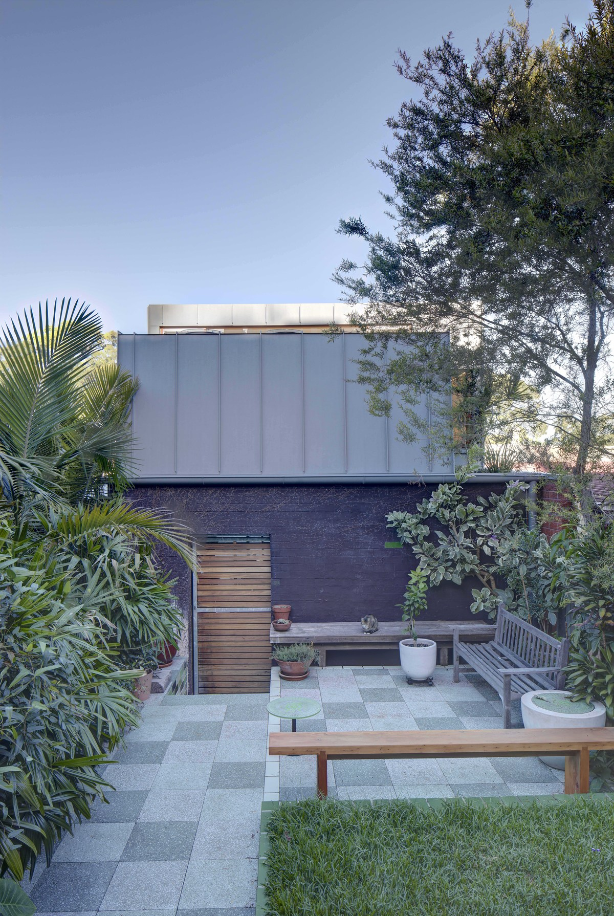 Courtyard view of the laneway house