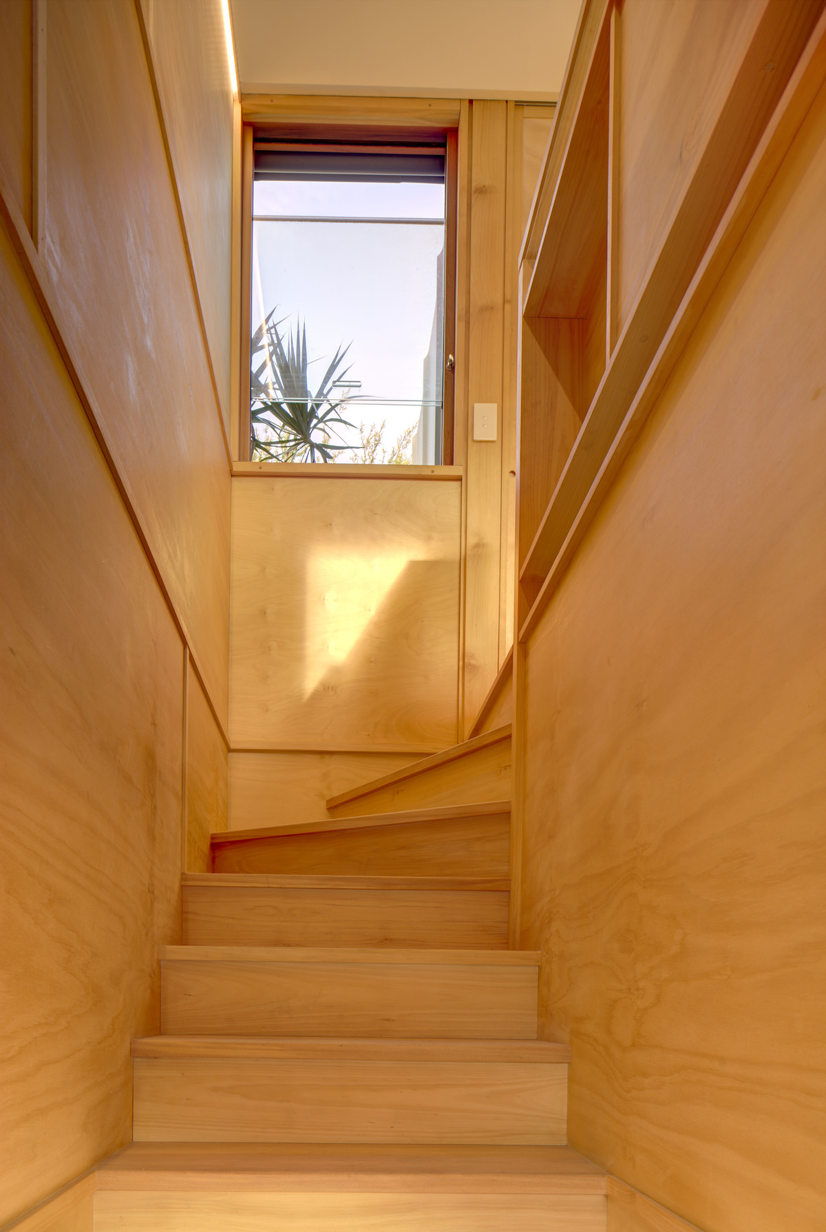View up the stairs