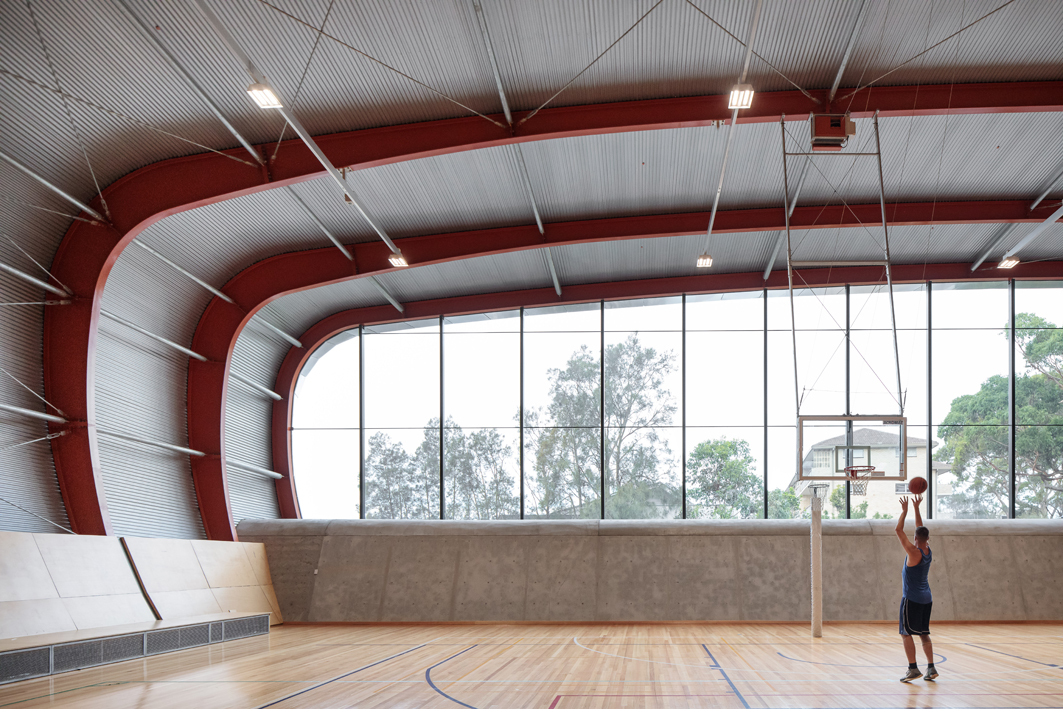 Basketball court in the PCYC