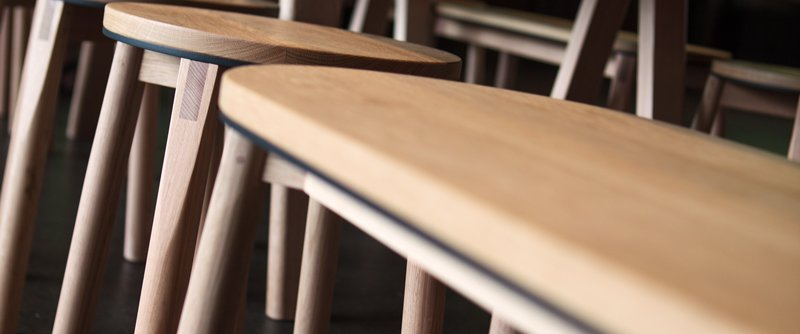 Tasmanian Oak furniture at Supernormal Restaurant