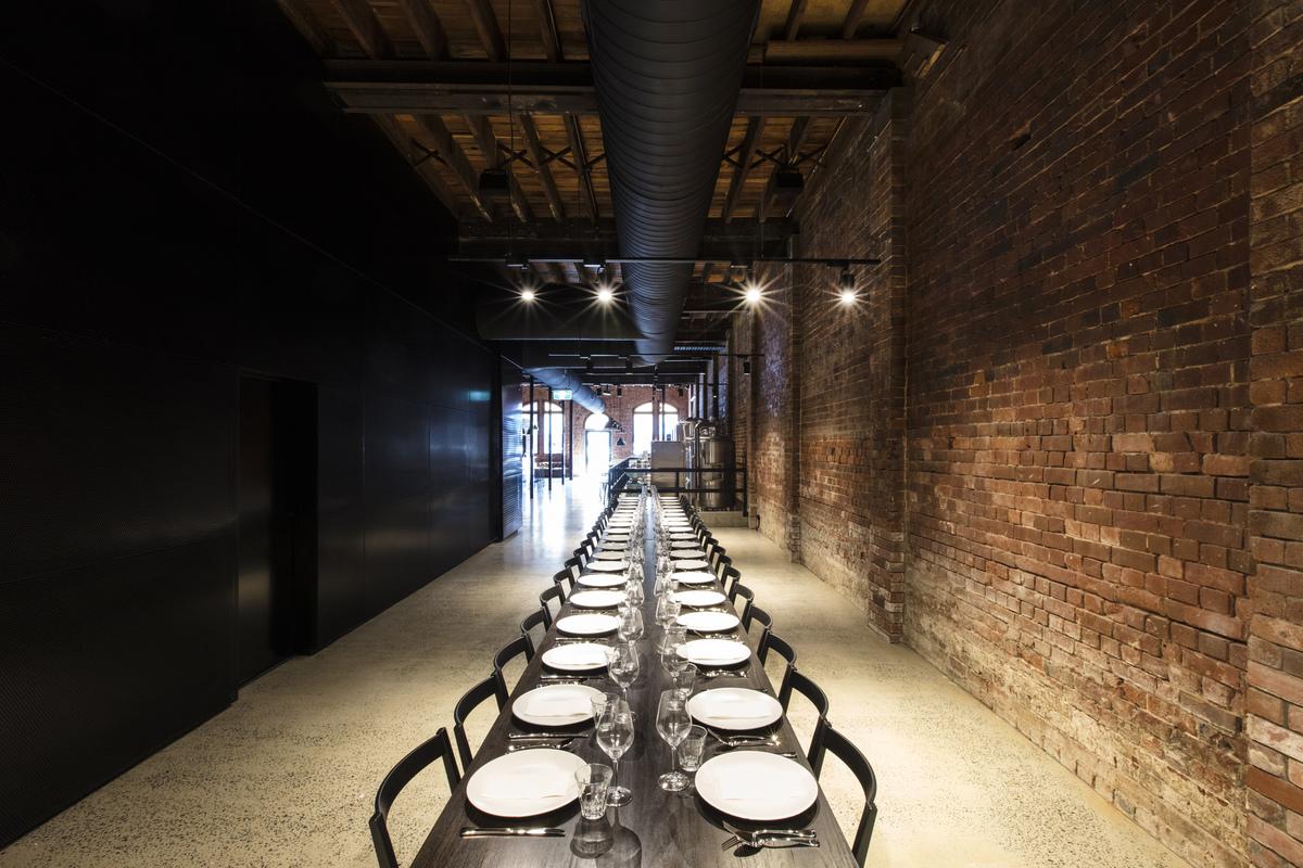 The long room in the new Headricks restaurant