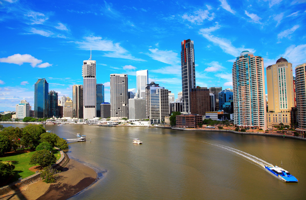 brisbane city from story bridge, australia