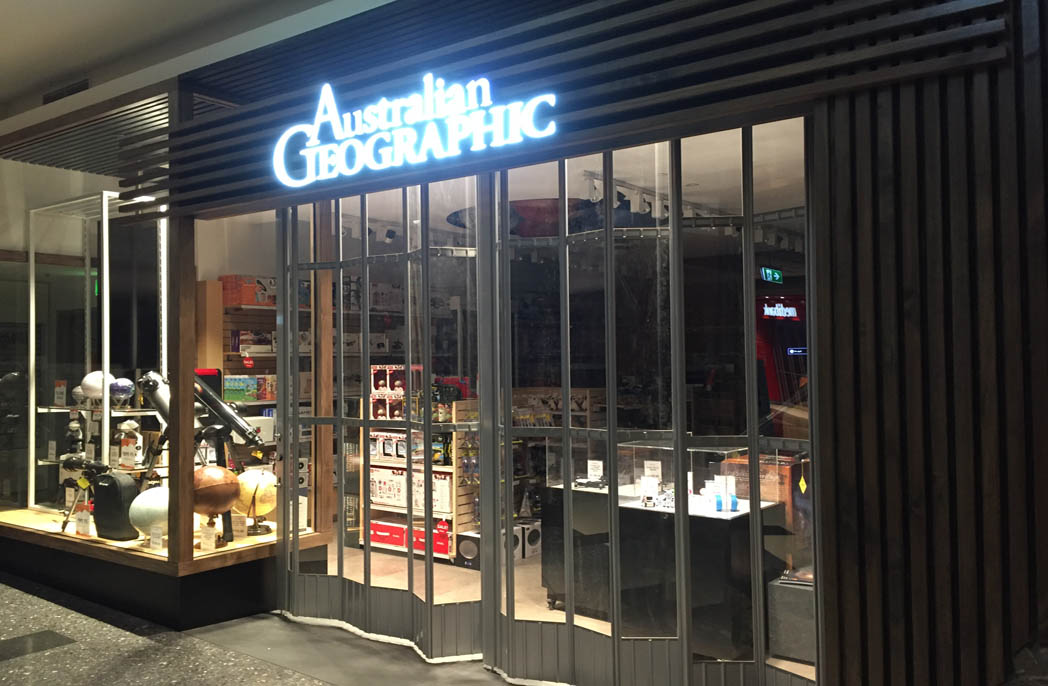 Australian Geographic shop front