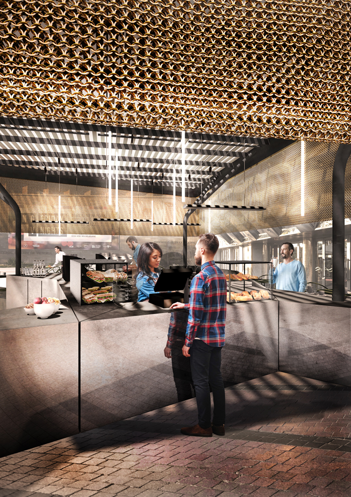 Inside the design of the new Melbourne Arts Centre Cento cafe