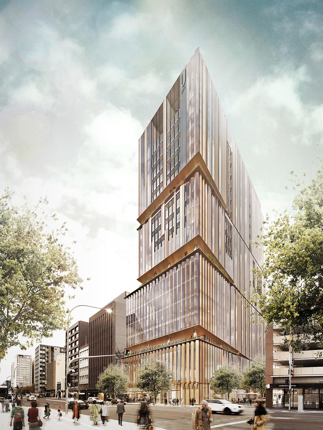 The new U City apartment building