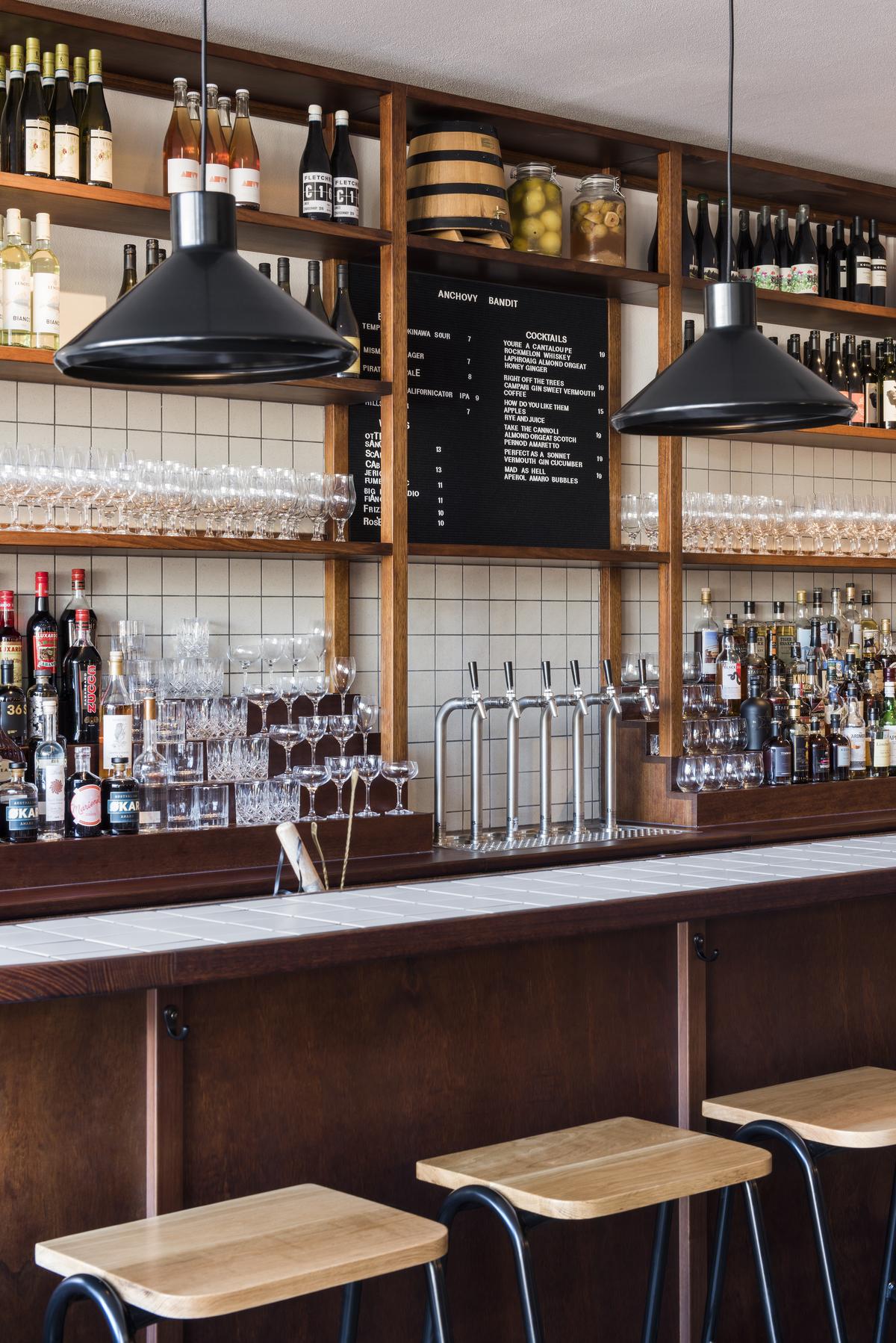 The bar at Anchovy Bandit
