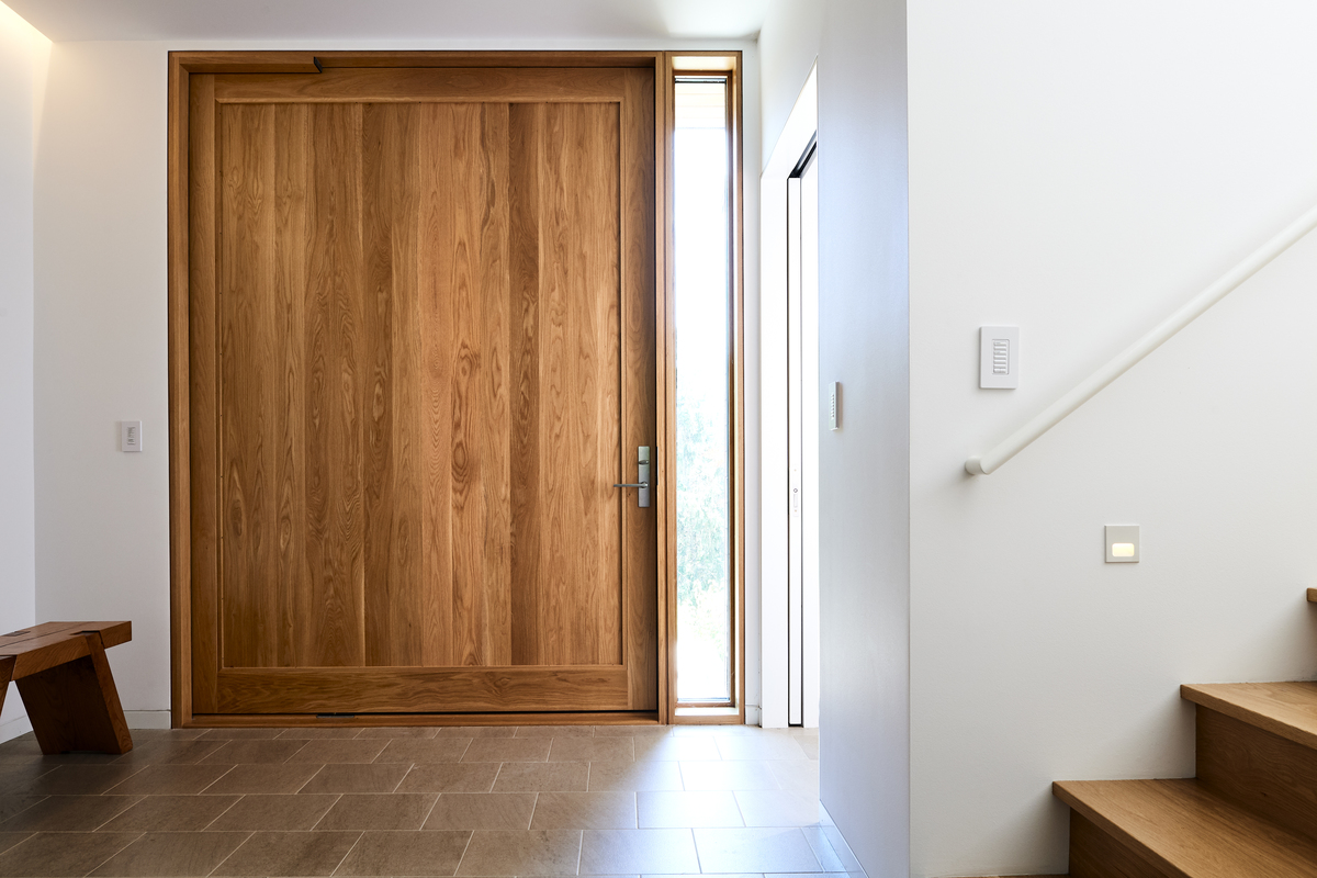 The six-foot wide door