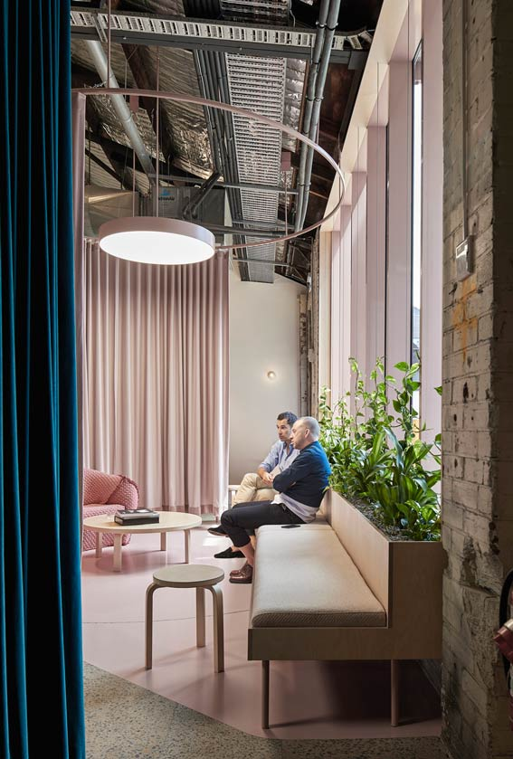 People meet in the office space by Chenchow Little