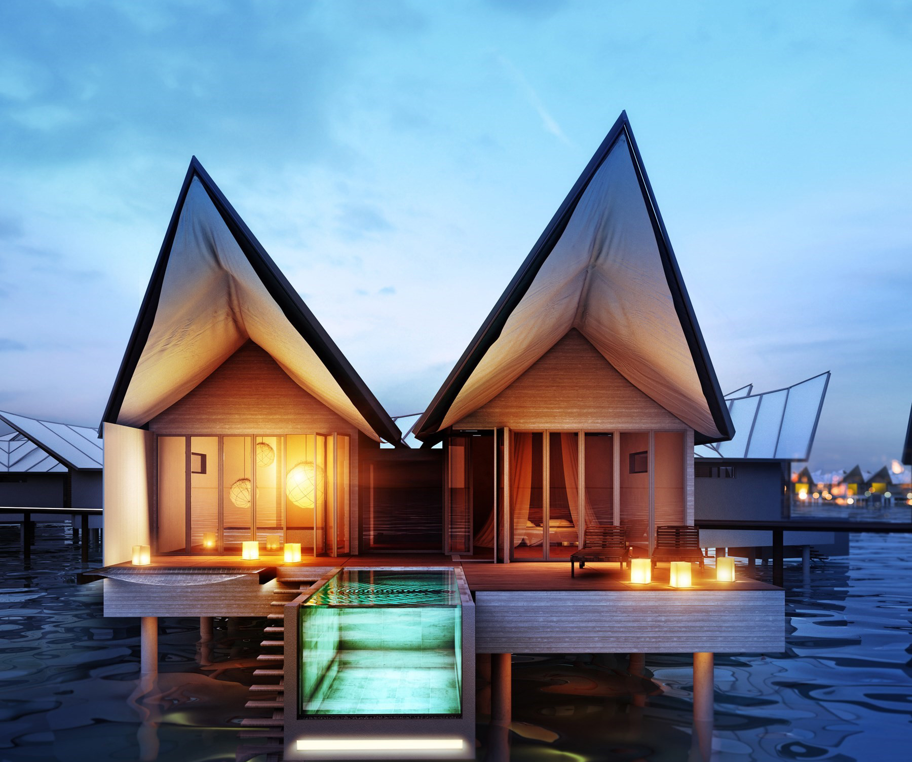 natural materials used at the new Movenpick hotel in the Maldives