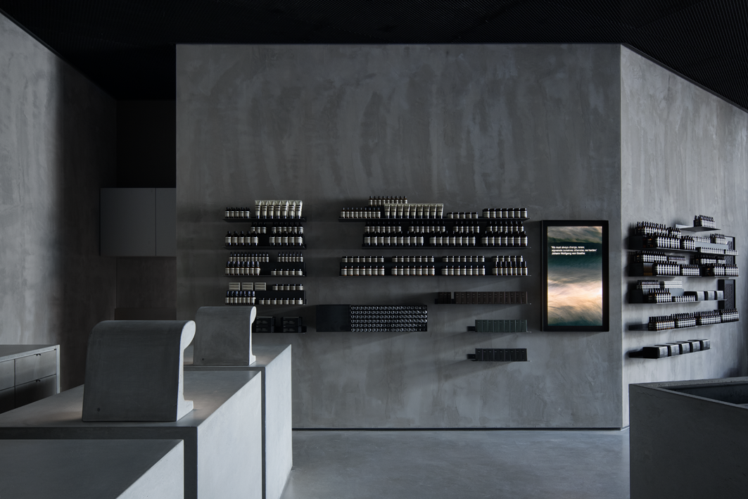 Kian Yam Plays With Concrete And Basalt For Aesop Store