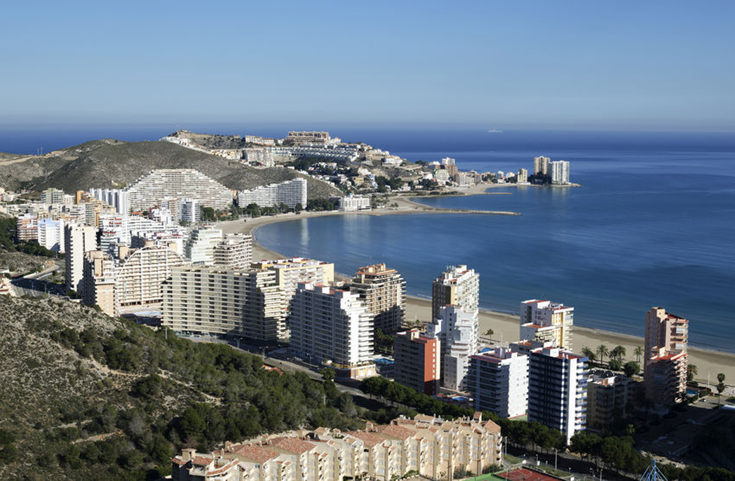 52178222 - aerial view, cullera valencia, spain