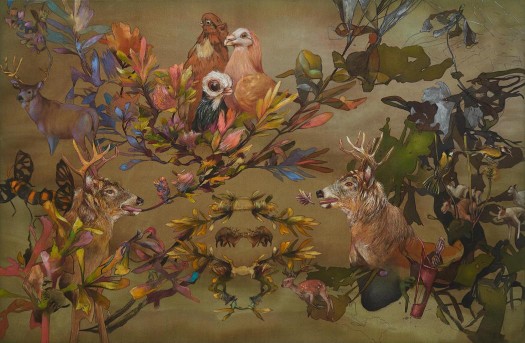 Acteon's song 2018, acrylic on canvas, 93x138cm(web)