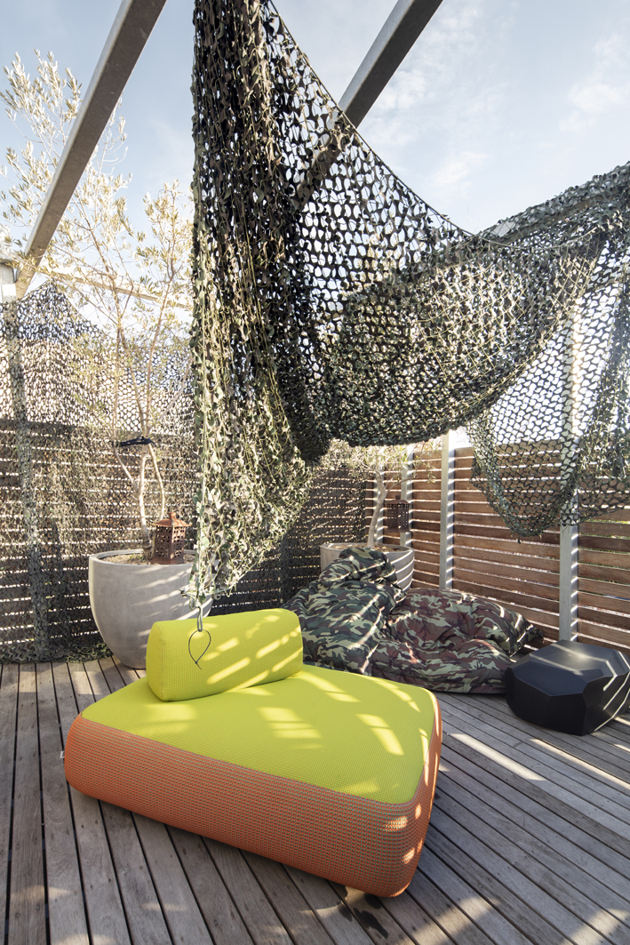 outdoor area in Pascale Gomes-McNabb's house