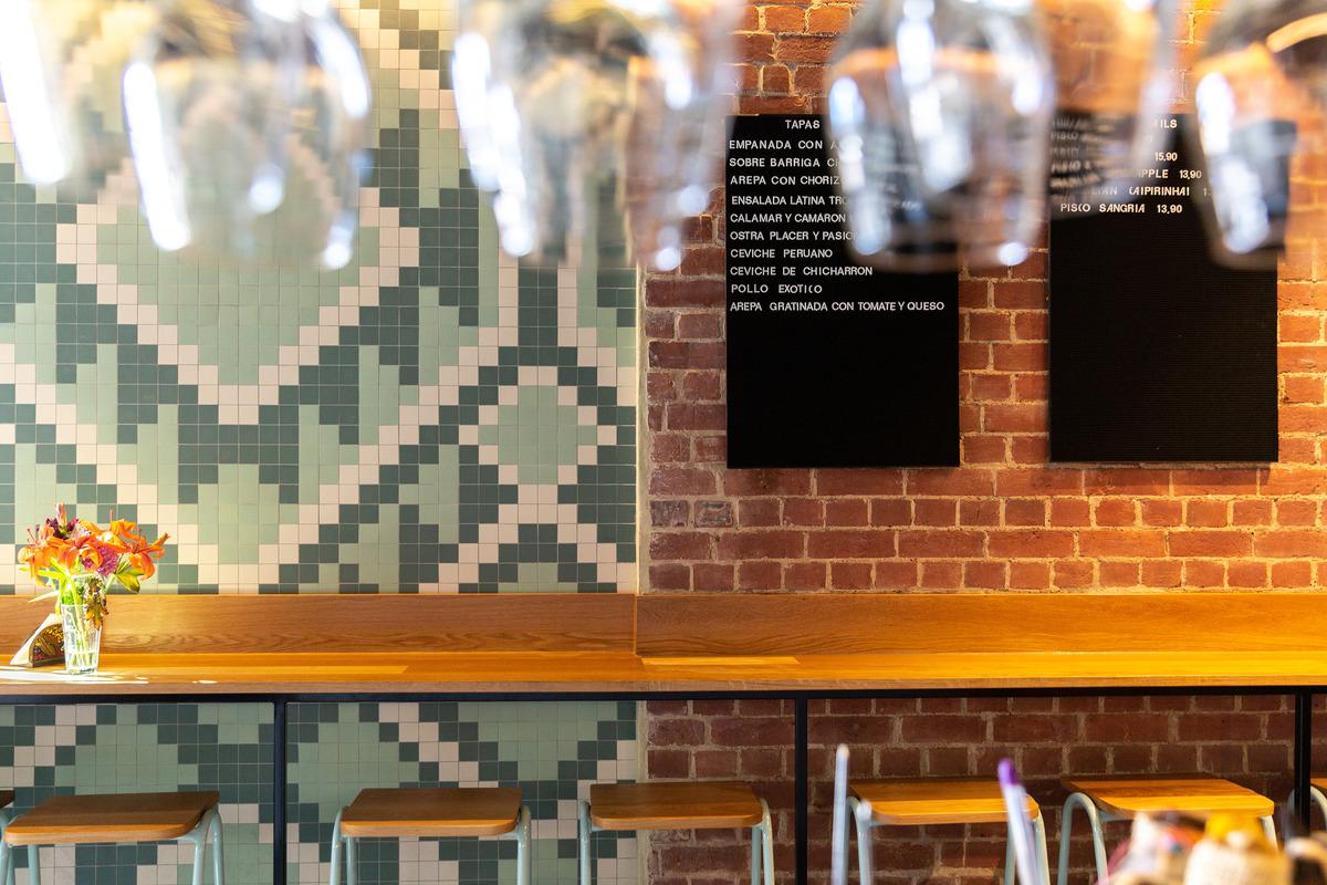 Mosaic and brick details