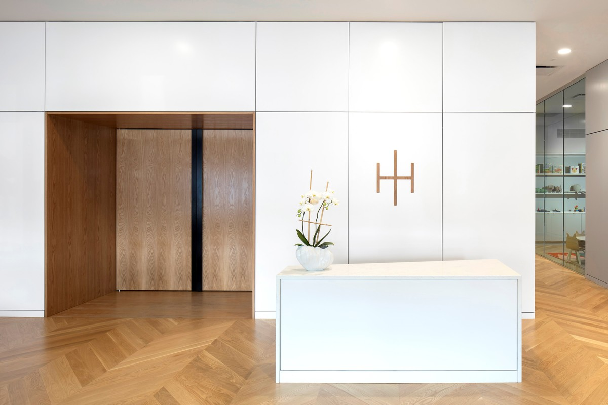 Clean lines emphasise the space