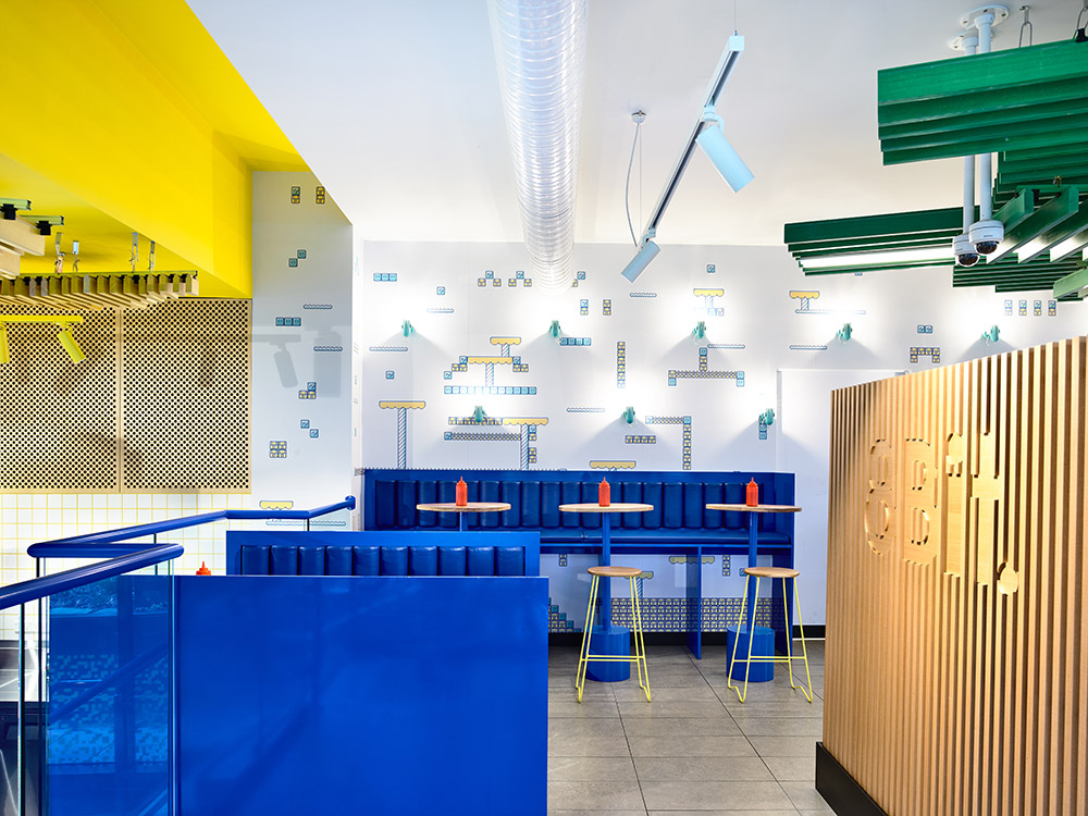 interior of 8Bit diner