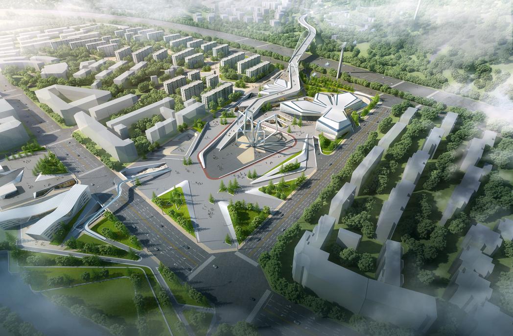 GroupGSA Chongli City Centre design