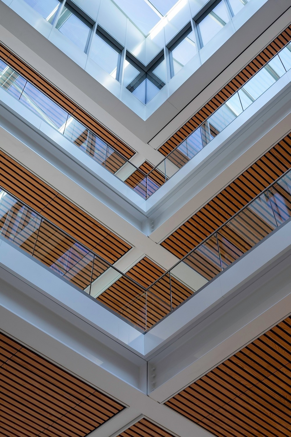 Internal light filled atrium connects the spaces and provides a focal point