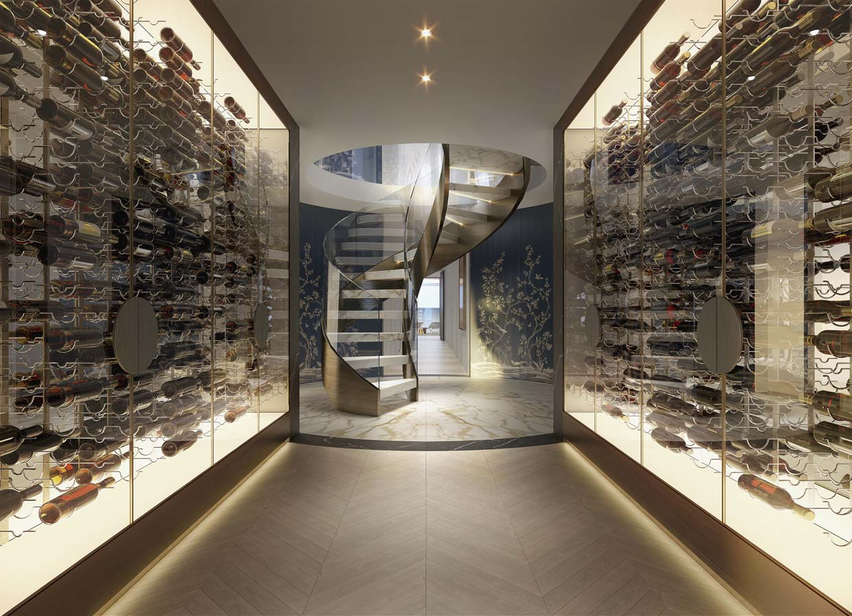 Wine Cellar and Stairs