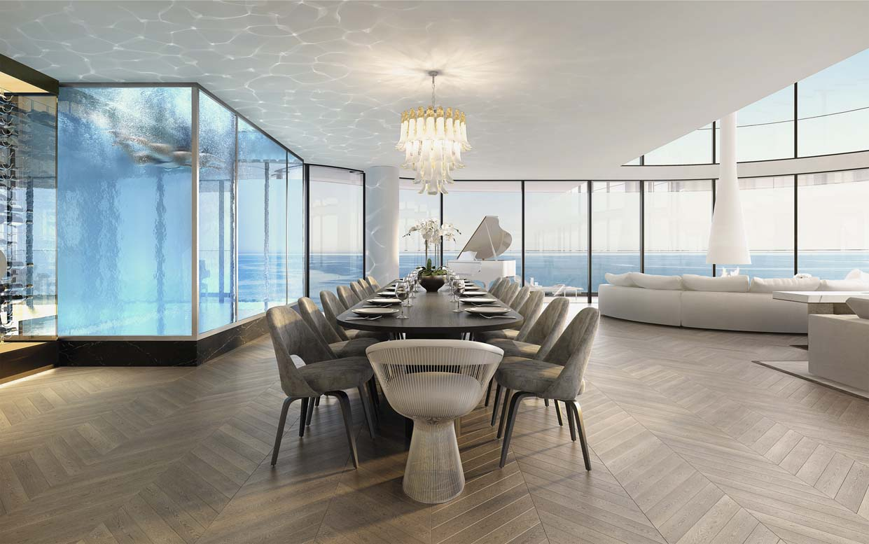 Penthouse Pool & Dining