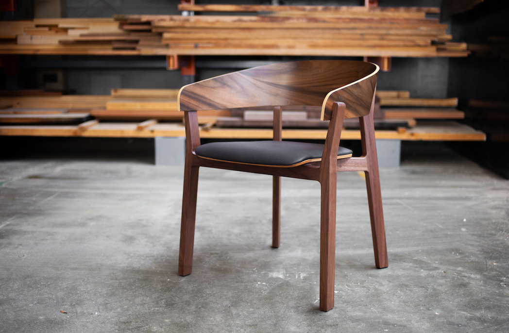 Luxxbox GOMA Chair in walnut