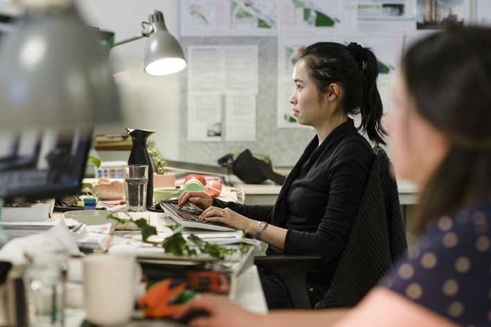 An architect at work in the Architects EAT office