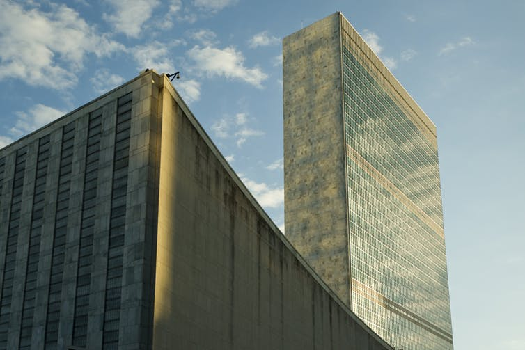 The UN Secretariat building.  United Nations Photo/Flickr., CC BY-NC-ND