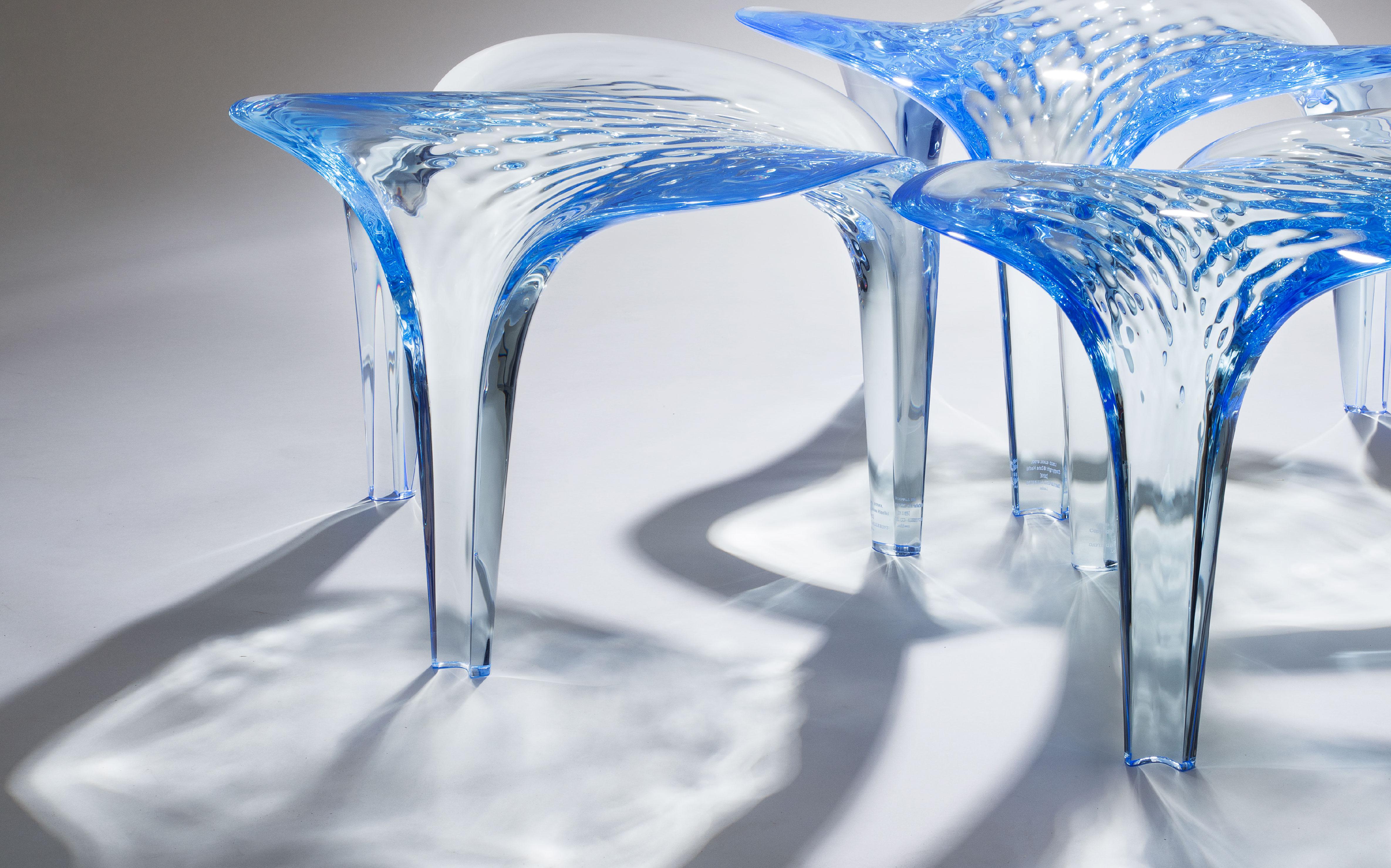 Liquid Glacial Stools - ZHD x David Gill Gallery