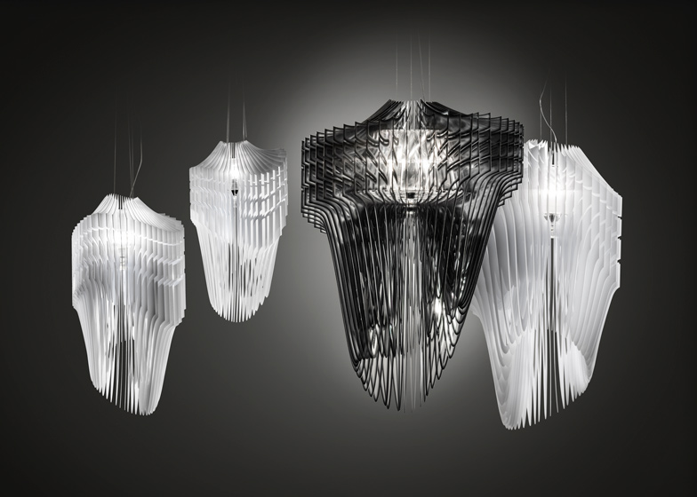 Aria and Avia chandeliers