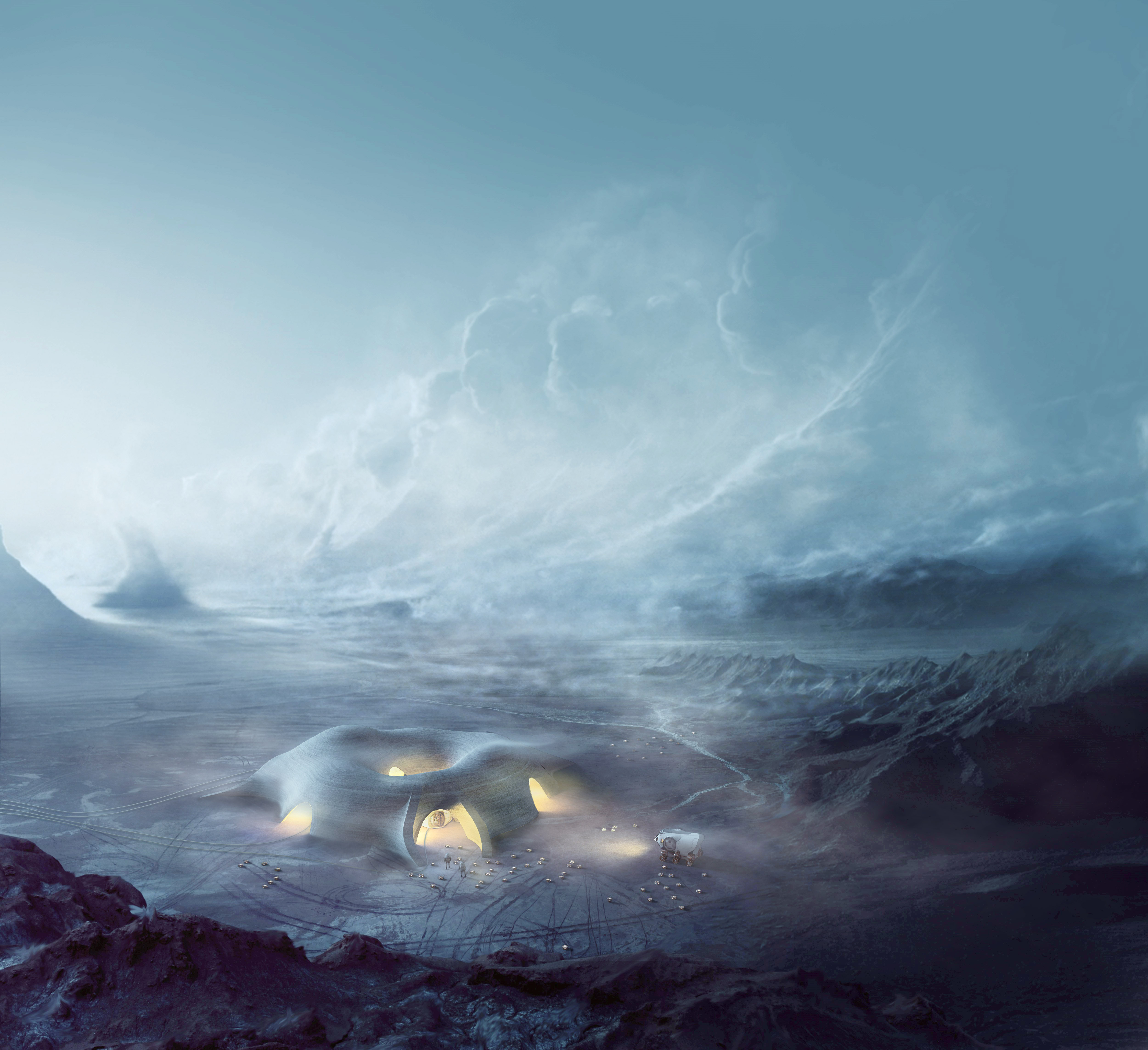 Mars habitat by Hassell