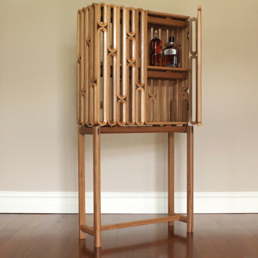 Eamon Riley: Furniture design for Bar-code Drinks Cabinet