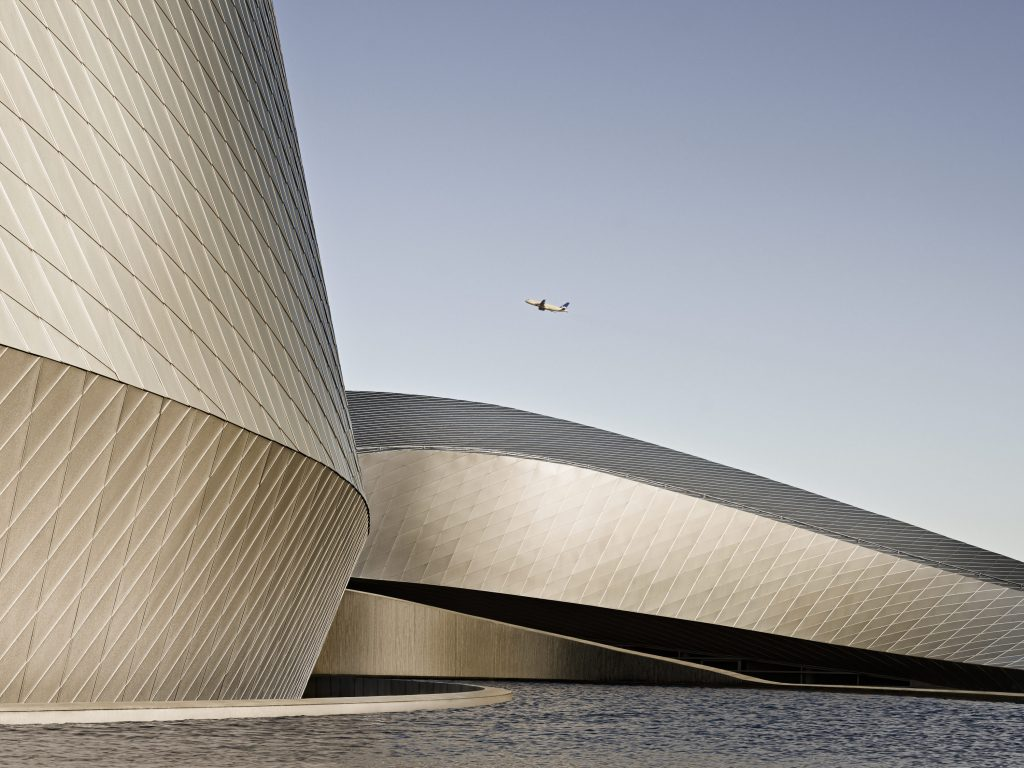 Facade detail, shot as part of an architectural case study of the National Aquarium Denmark in Copenhagen.