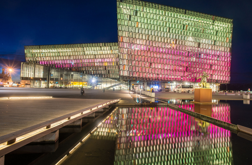Harpa concert hall one of the iconic place of Reykjavik, Iceland.