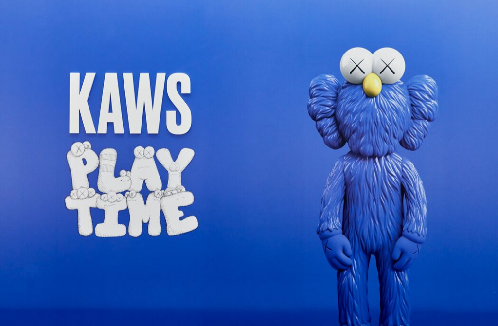 Installation view of KAWS: PLAYTIME at NGV International, Melbourne 20 September 2019 – 13 April 2020. Photo © Tom Ross