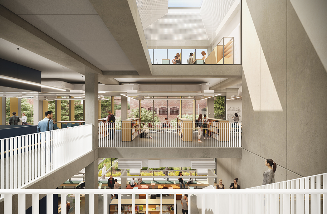Student Learning Hub at the Bendigo TAFE City Campus, due for completion 2021