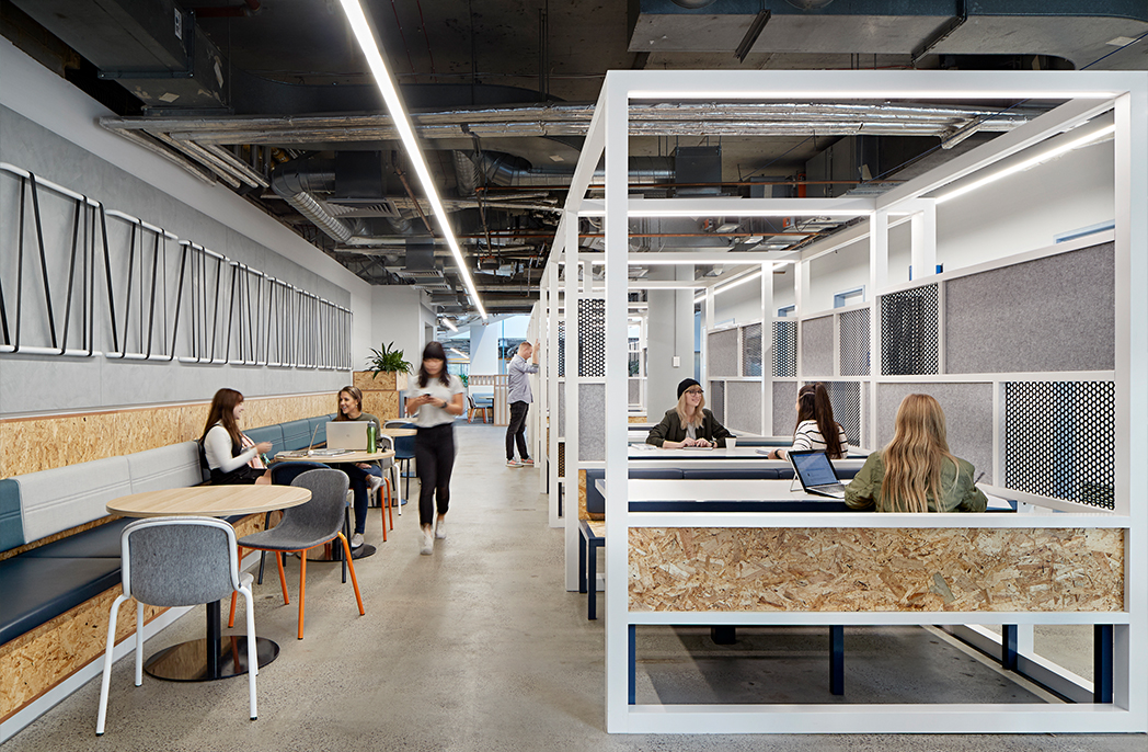 The new VUHQ at Victoria University Footscray Park campus provides the students with amenity akin to a city café