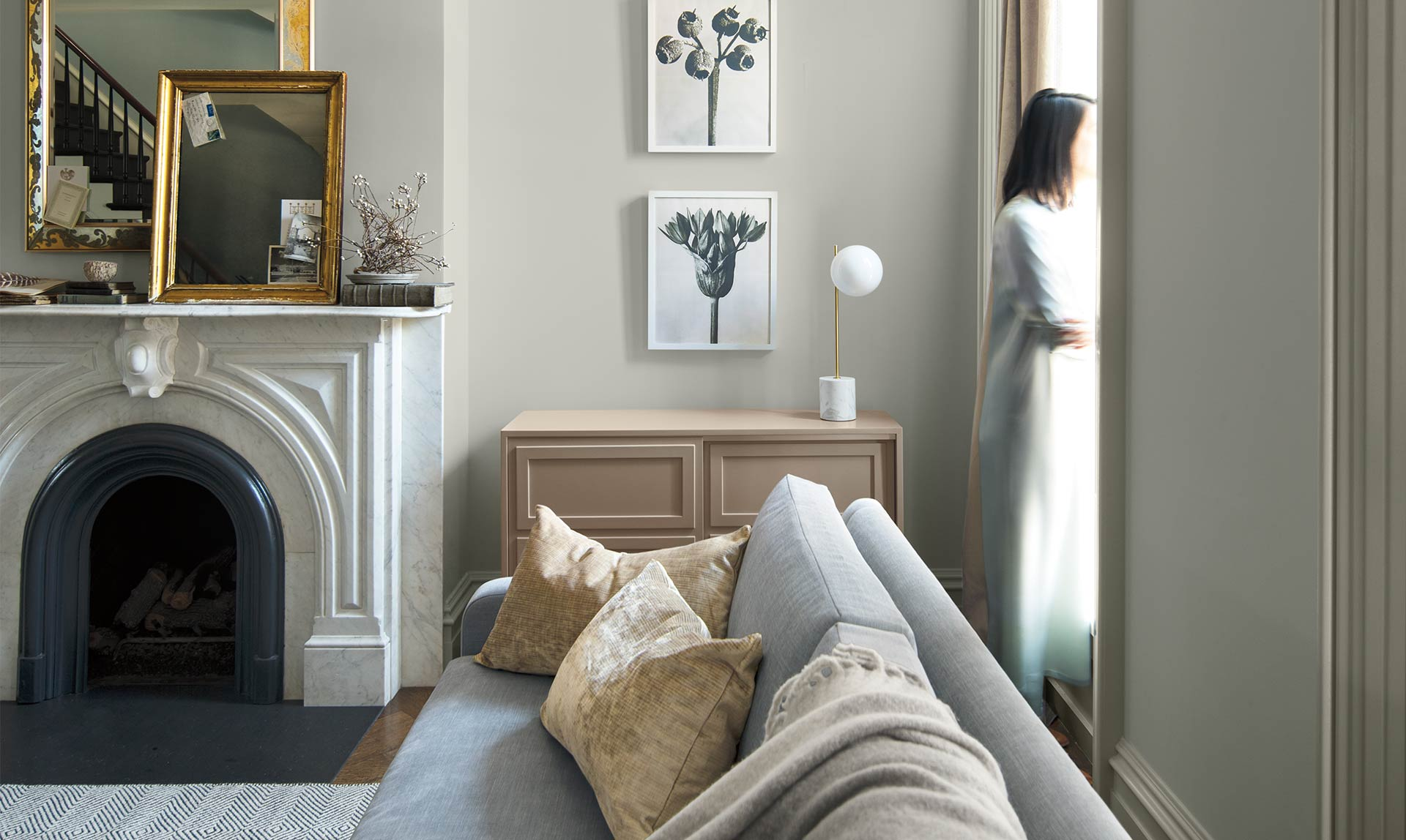 Last year's winning colour, Metropolitan, helps a modern home find its soft side.